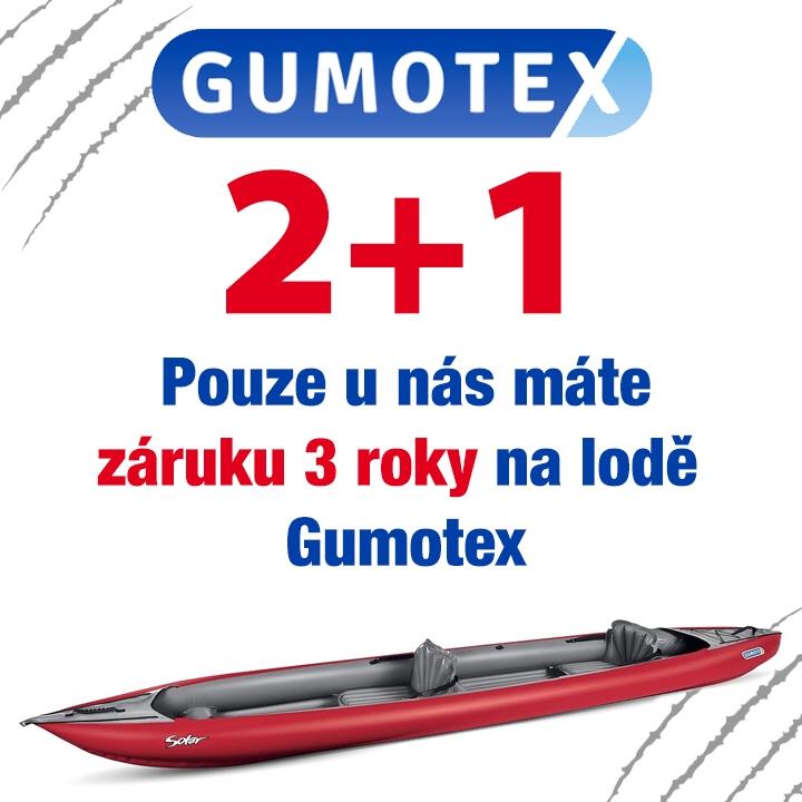 Záruka 3 roky na lodě Gumotex